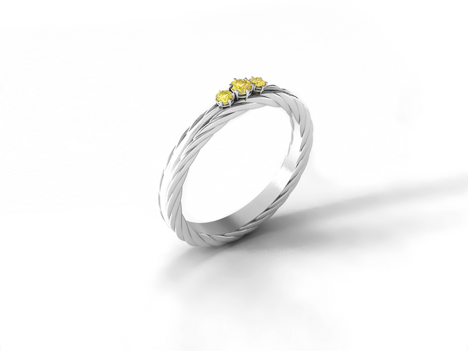 Arka wedding band by Reine - 002