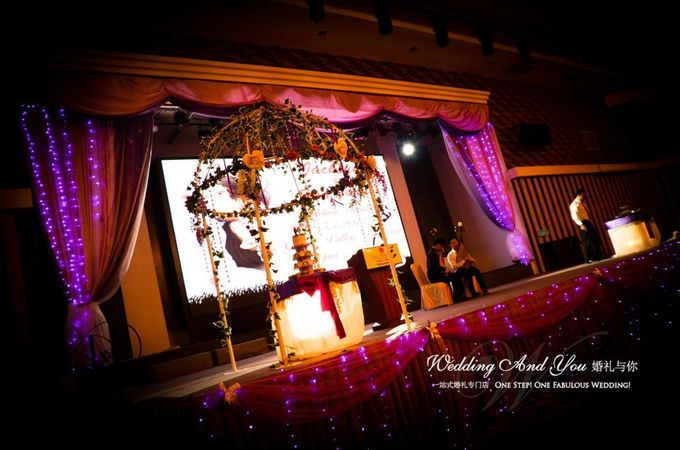 Stage Backdrop Design by Wedding And You - 025