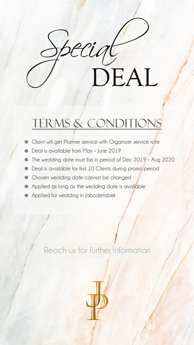 Special Deal on May - June 2019 by JP Wedding Enterprise