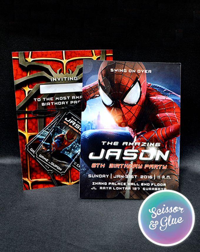 Amazing Spiderman Invitation Jason By Scissor Glue