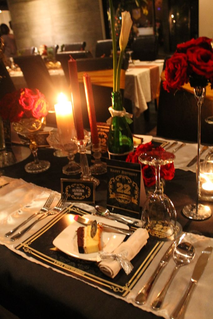 Elegant Champagne Birthday Dinner For DAVID by 1994 Decoration - 005