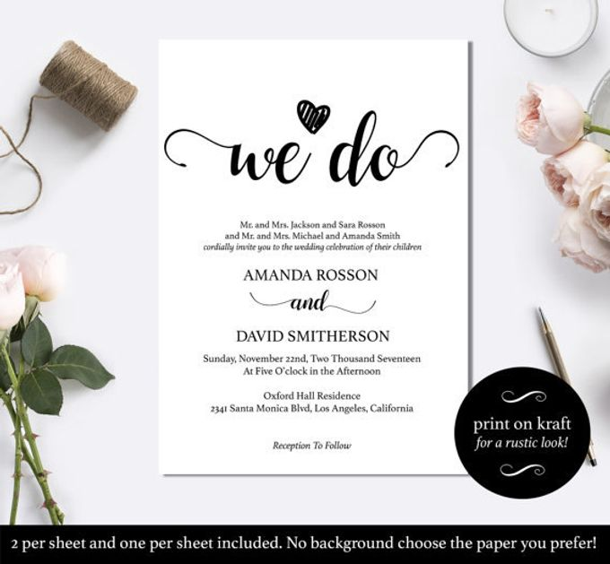 We Do invitations templates by We Do Honey - 004