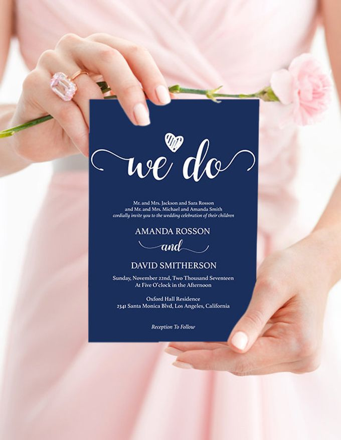 We Do invitations templates by We Do Honey - 001