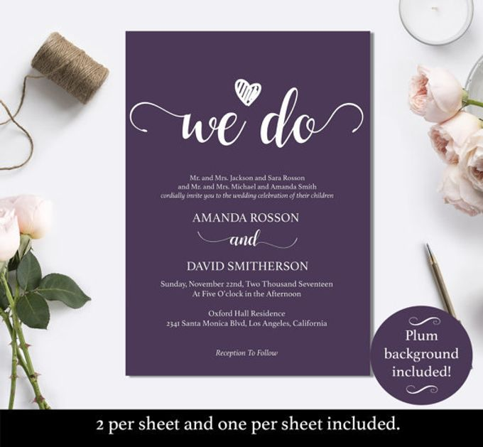 We Do invitations templates by We Do Honey - 002