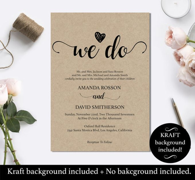 We Do invitations templates by We Do Honey - 003