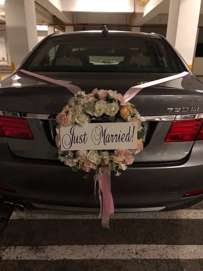 Bridal car decor by ilmare Wedding - 002