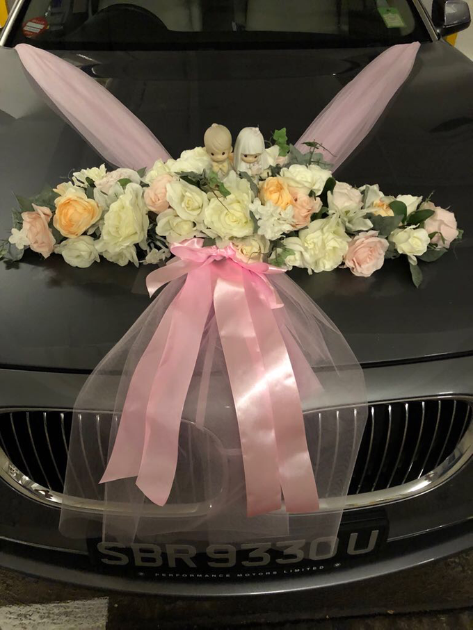 Bridal car decor by ilmare Wedding - 004