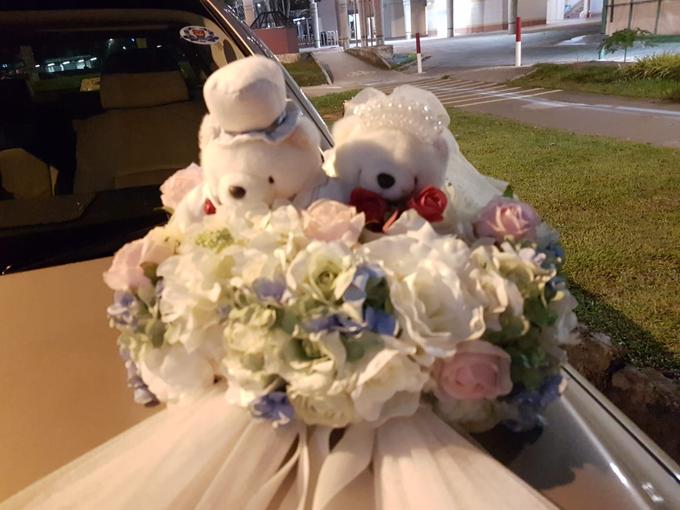 Forever friends bridal car decor by ilmare Wedding - 003