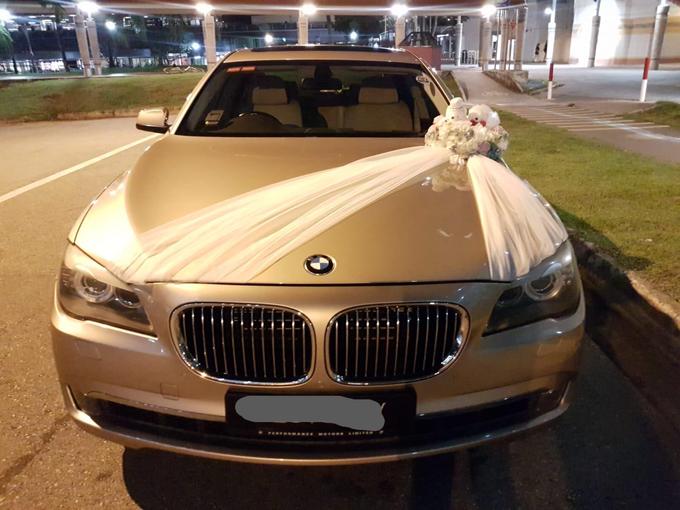 Forever friends bridal car decor by ilmare Wedding - 001