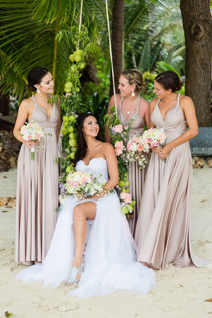 Blush Pearl Bridesmaids in Bali by Goddess By Nature - 002