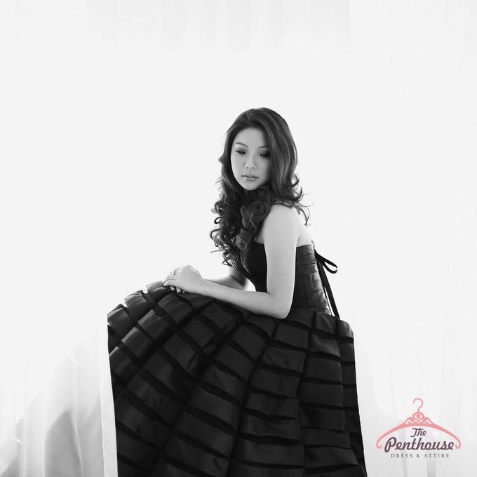 Simply Black and White by The Penthouse Dress - 001