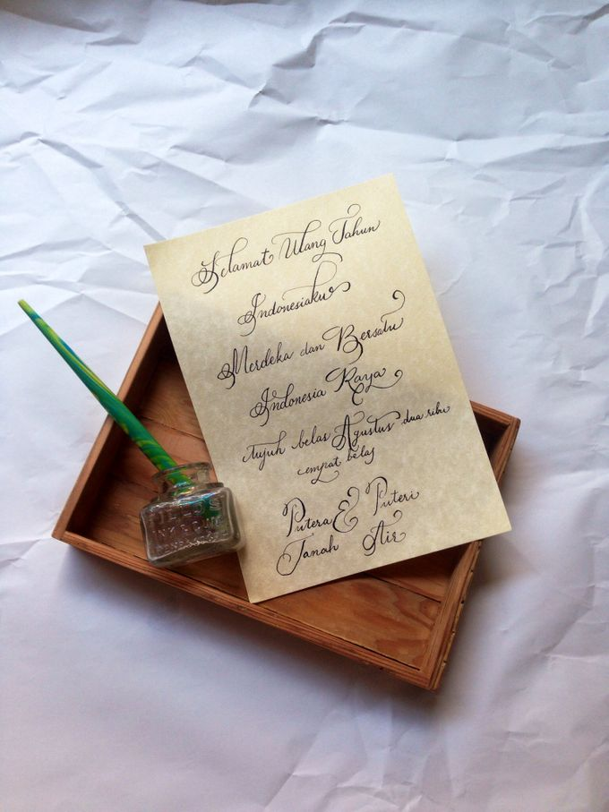 Calligraphed place cards, envelopes or your vows! by C for Calligraphy - 001