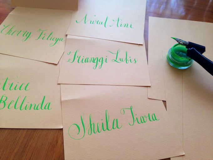 Calligraphed place cards, envelopes or your vows! by C for Calligraphy - 004