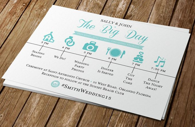 The Big Day-Wedding Timeline of Events by Blue Line Design - 001