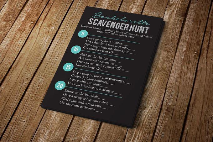 Bachelorette Scavenger Hunt by Blue Line Design - 001