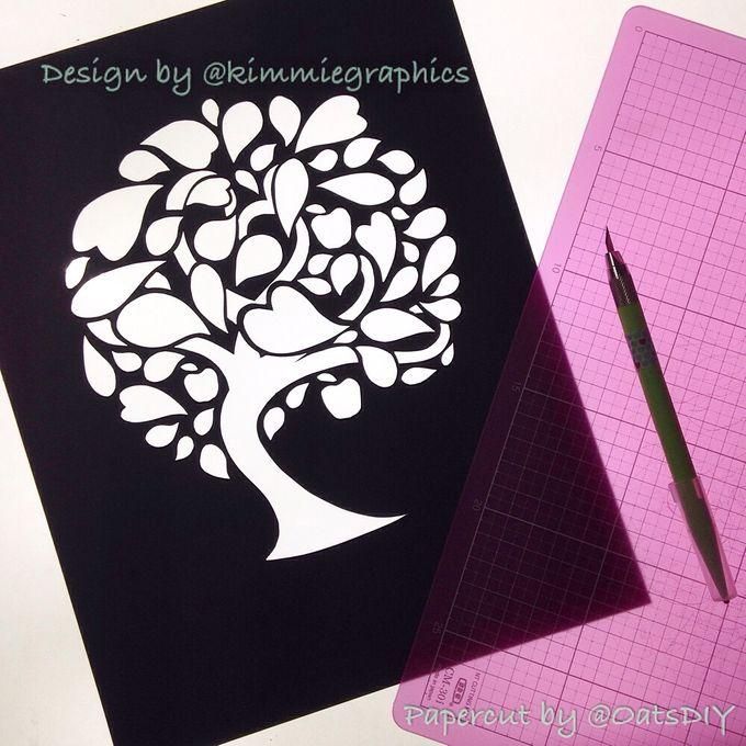 Watercolored Papercut Tree by Oats DIY - 002