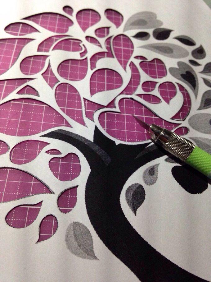 Watercolored Papercut Tree by Oats DIY - 001