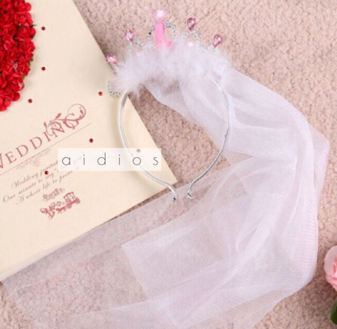 e7ce23a00d0c Add To Board Bridal Shower Tiara with Veil by AIDIOS - 001