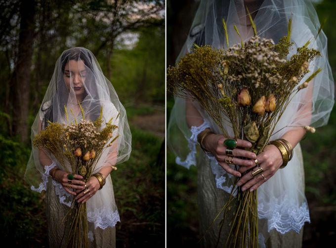 The woodland-boho bride by Kim Jey Photography - 002