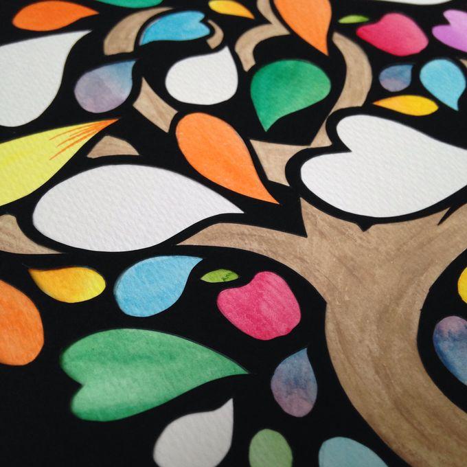 Watercolored Papercut Tree by Oats DIY - 004