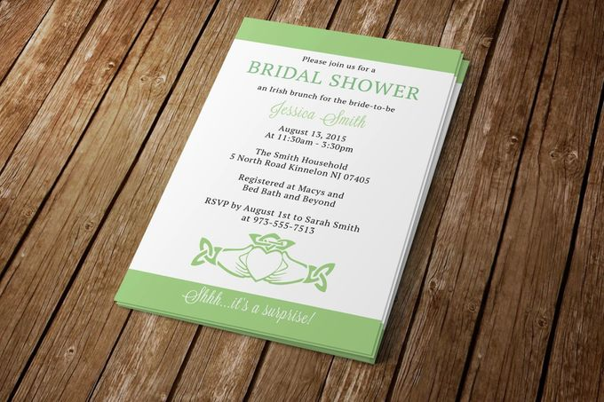 Bridal Shower Invitation by Blue Line Design - 001