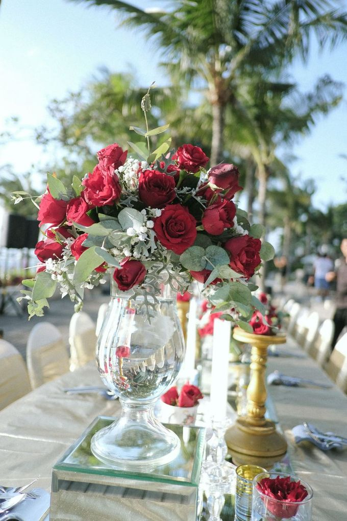 Dinner Decor At The Anvaya Hotel by d'Oasis Florist & Decoration - 005