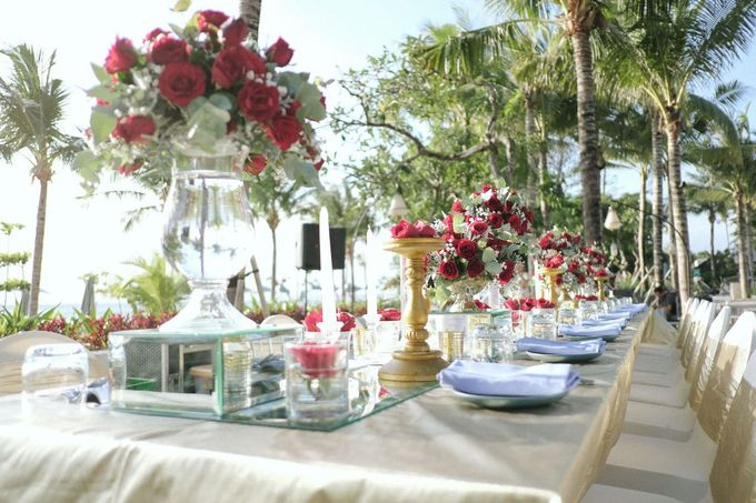 Dinner Decor At The Anvaya Hotel by d'Oasis Florist & Decoration - 004