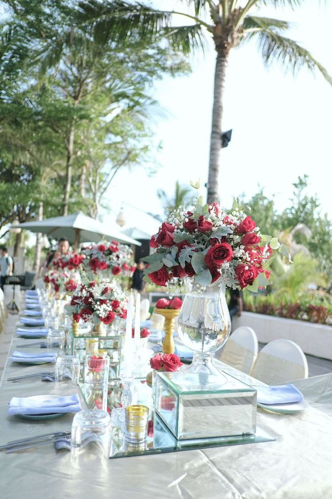 Dinner Decor At The Anvaya Hotel by d'Oasis Florist & Decoration - 006