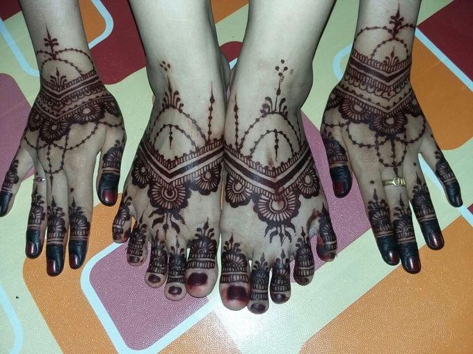 Red Henna by Ikkie henna art - 023