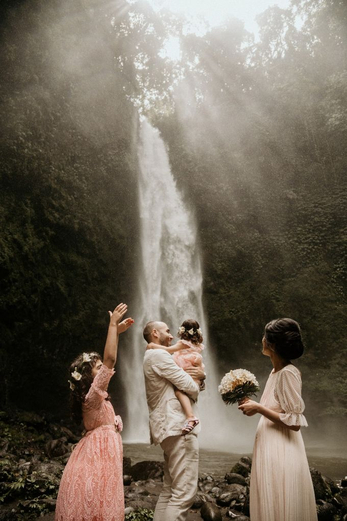 Waterfall Wedding Ceremony by fire, wood & earth - 001