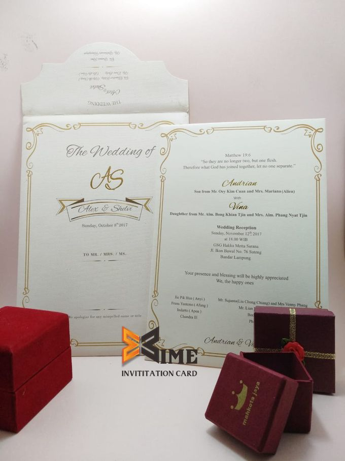 custom design by xime wedding card - 001
