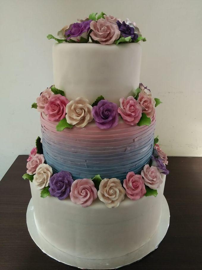 Colourfull Wedding Cake by Sugaria cake - 002