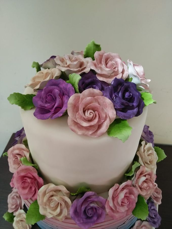 Colourfull Wedding Cake by Sugaria cake - 001