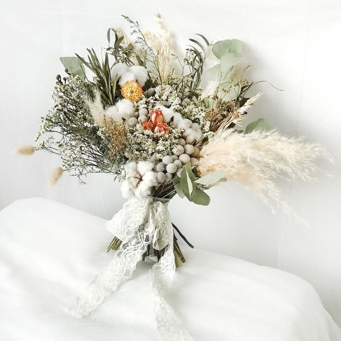 Dried Bouquet Wedding by Magnolia Dried Flower - 011