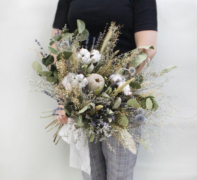 Dried Bouquet Wedding by Magnolia Dried Flower - 015