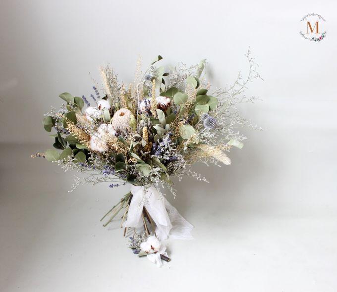 Dried Bouquet Wedding by Magnolia Dried Flower - 002
