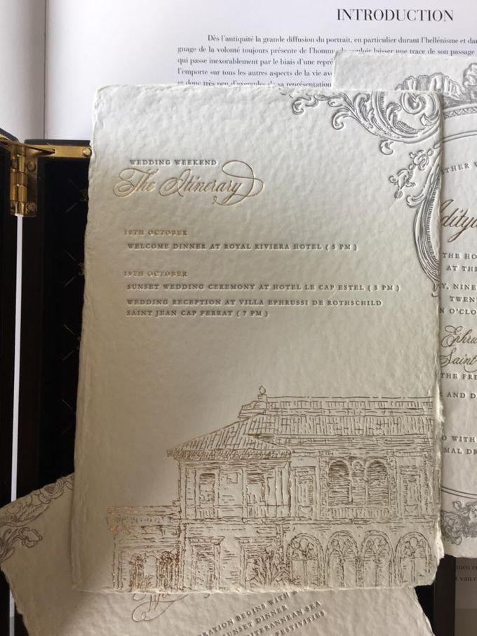 Aileen & Aditya French Riviera Wedding by Pemberley Paperie - 001