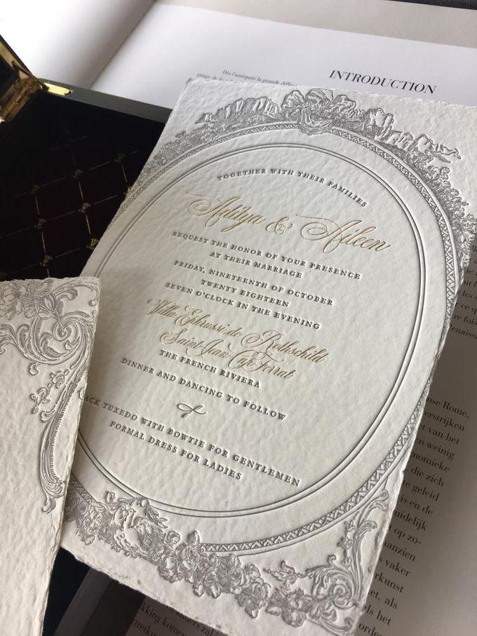 Aileen & Aditya French Riviera Wedding by Pemberley Paperie - 005