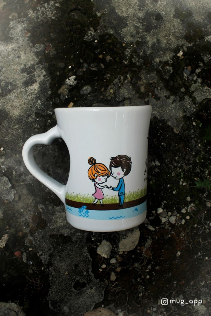 Mug F.mini Love Wedding Dita& Jericho by Mug-App Wedding Souvenir - 002