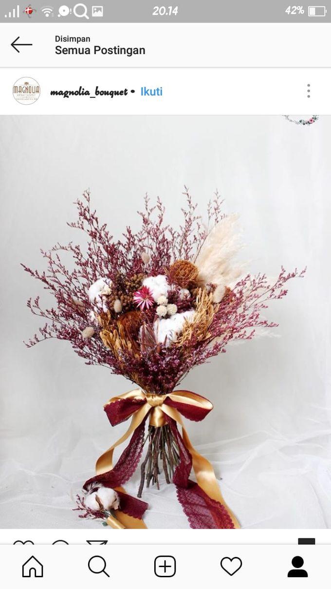 Dried Bouquet Wedding by Magnolia Dried Flower - 009