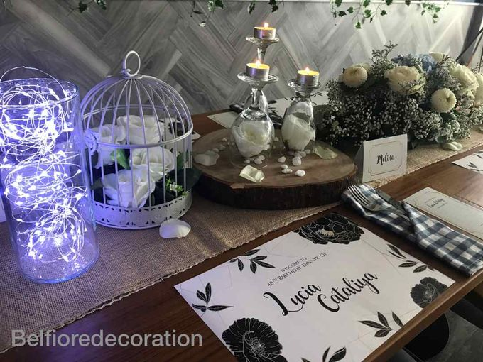 Table Decor Birthday Dinner by Belfiore Florist - 005