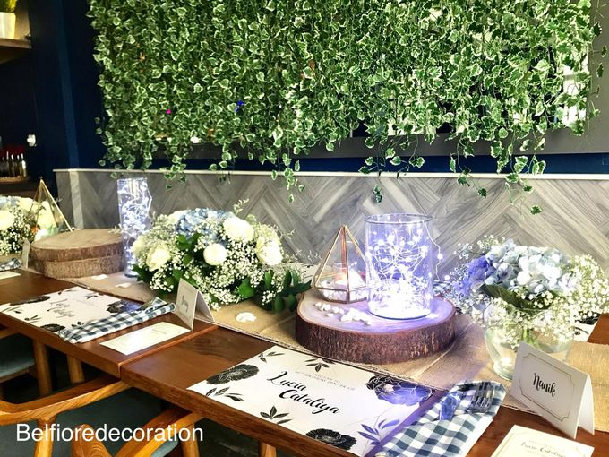 Table Decor Birthday Dinner by Belfiore Florist - 006