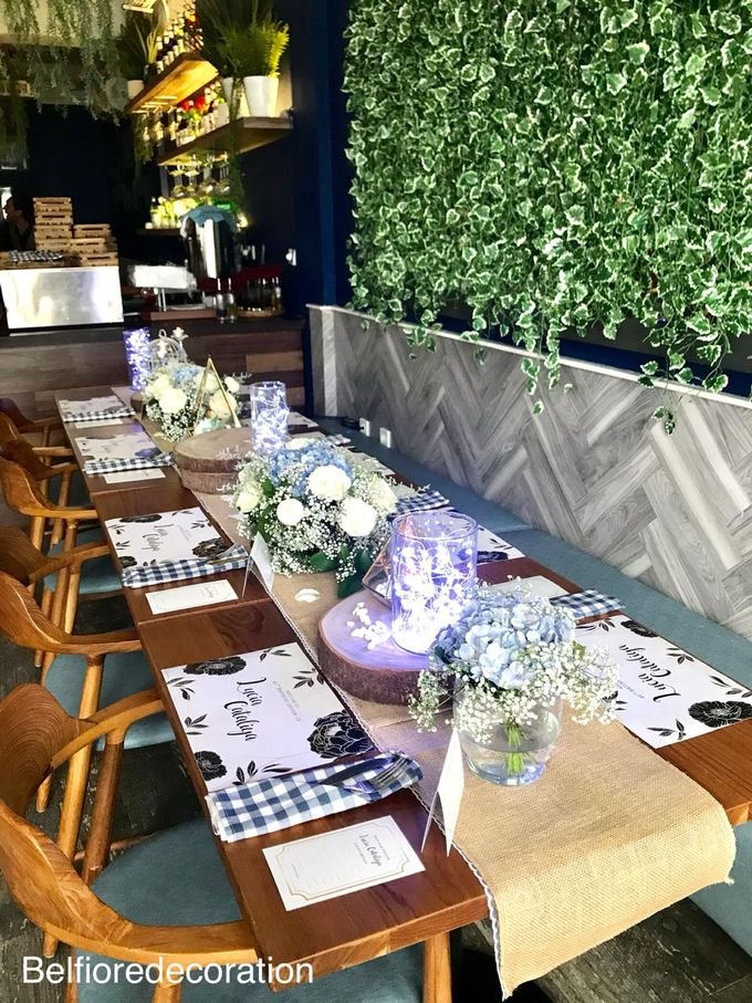 Table Decor Birthday Dinner by Belfiore Florist - 008