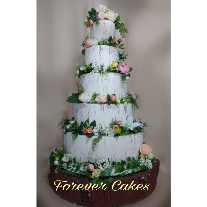 Rustic Wedding Cake by FOREVER CAKE - 003