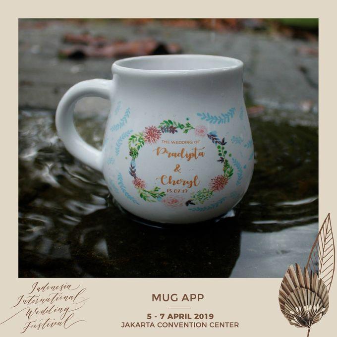 Mug Gentong Wedding Cheryl & Pradipta by Mug-App Wedding Souvenir - 002