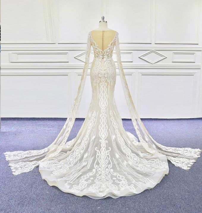New Beautiful Mermaid Aline Wedding Gown Design by D BRIDE - 003