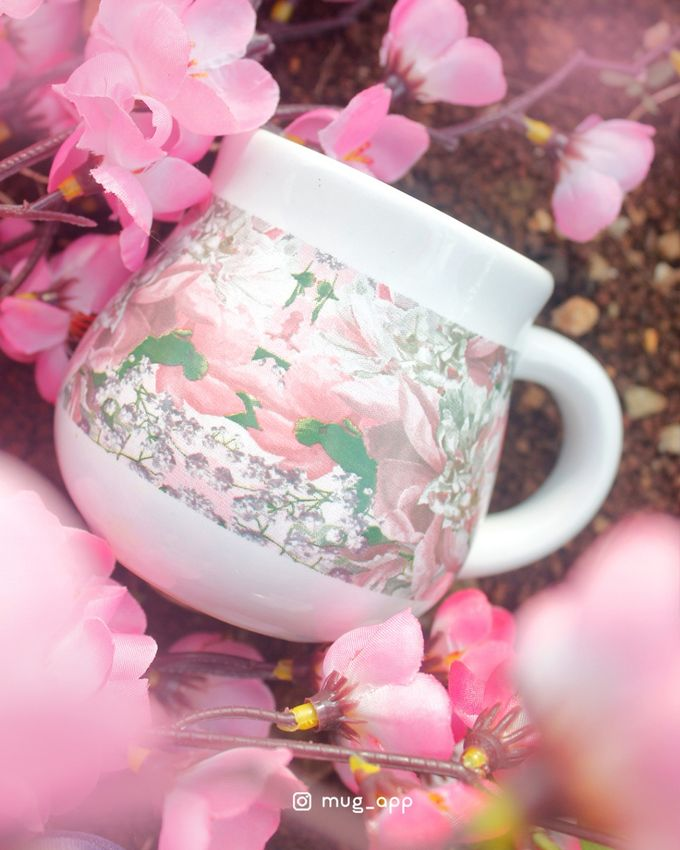 Tekio Susun Dan Mug Gentong Exclusive Full Sakura by Mug-App Wedding Souvenir - 005
