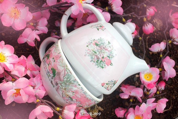 Tekio Susun Dan Mug Gentong Exclusive Full Sakura by Mug-App Wedding Souvenir - 006