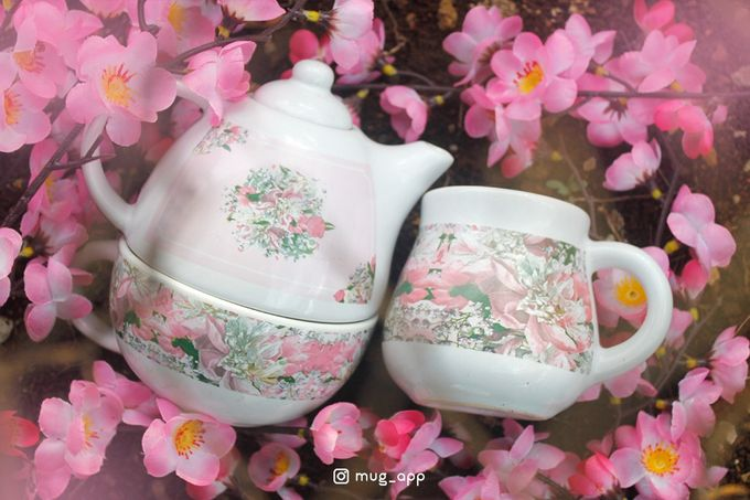 Tekio Susun Dan Mug Gentong Exclusive Full Sakura by Mug-App Wedding Souvenir - 004