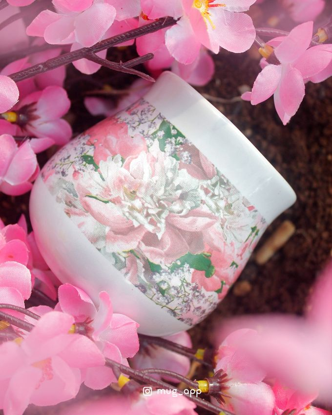 Tekio Susun Dan Mug Gentong Exclusive Full Sakura by Mug-App Wedding Souvenir - 002